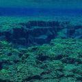 Underwater rock formations