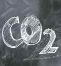 "Chalk lettering ""CO2"" / (c) Pixabay"