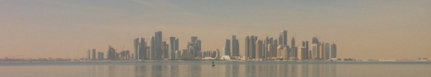 Skyline of Doha, Qatar - a HOT course location.