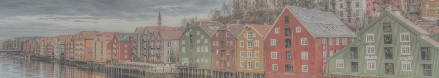 Colorful houses of Trondheim, Norway. Location of HOT training courses.
