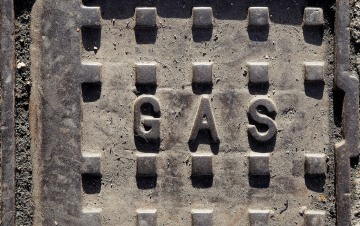"Gas - sign with lettering reading ""Gas"""