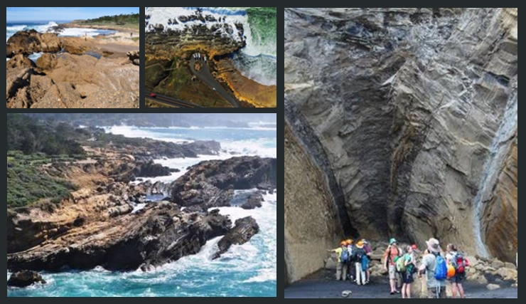 Geological rock formations around water / All images © Dr Jon Rotzien